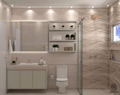 Banheiro com revestimento 3D da ceusa revestimentos!