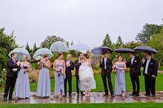 Rainy Bridal Party Photography.  Photo by Effervescent Media Works