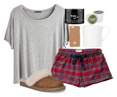 Goodnight by lauren-hailey ❤ liked on Polyvore featuring Chicnova Fashion, Abercrombie  Fitch, UGG Australia, Tory Burch, Kate Spade, philosophy, womens clothing, women, female and woman
