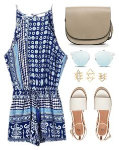 """""""Easy Blue"""" by genuine-people ❤ liked on Polyvore featuring Charlotte Russe, Summer and Blue"""