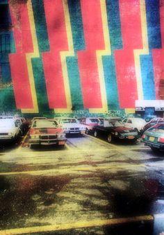 "Saatchi Online Artist Enrico Camporese; Photography, "" A big red stripes parking"" #art"