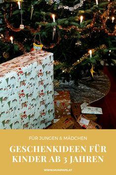 Ob #Geschenke zu #Weihnachten, zum #Geburtstag oder sonstigen Anlässen, die richtige Wahl des passenden Geschenks ist oft nicht einfach! Darum stellen wir euch empfehlenswerte Geschenkideen für #Kinder ab 3 Jahren vor, von denen wir aus Erfahrung wissen, dass sie den Kindern gefallen und lange eine Freude damit haben. Unsere #Geschenkideen passen für Jungen und Mädchen. Starter Set, Gift Wrapping, Christmas Tree, Holiday Decor, Gifts, Home Decor, Pictorial Maps, 3 Years, Home And Garden