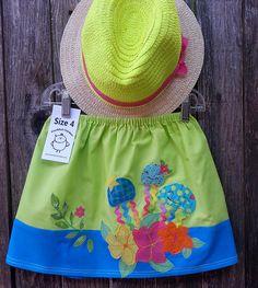 Jellyfish Tea Party Skirt by FreckledChicken on Etsy, $36.00