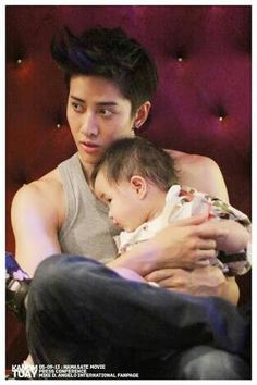 Mike D. Angelo and baby