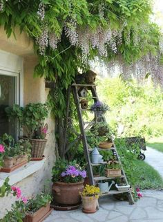 ☮ American Hippie Bohéme Boho Lifestyle ☮ Patio .. Ladder