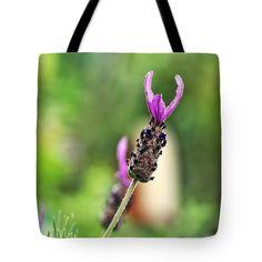 "Lavender Soaking up the Sunshine Tote Bag 18"" x 18"""