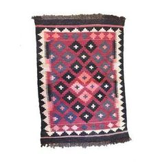 Vintage Small Red Kilim Rug or Wall Hanging