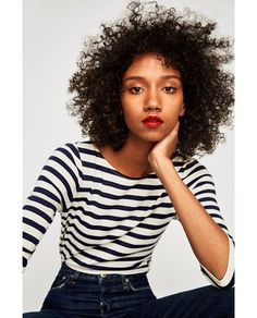Everyday closet staple – the breton. Three quarter length sleeve version from Zara UK. Mori Girl Fashion, Tomboy Fashion, Define Fashion, Signature Style, Casual Tops, T Shirts, Pretty Outfits, Spring Summer Fashion, Passion For Fashion