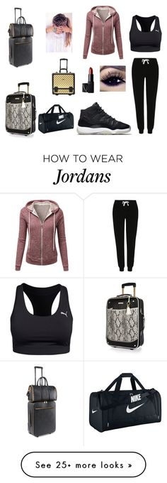 """""""Airport Outfit"""" by jadders23552 on Polyvore featuring George, Puma, J.TOMSON, NIKE, NARS Cosmetics, River Island, STELLA McCARTNEY, women's clothing, women's fashion and women"""