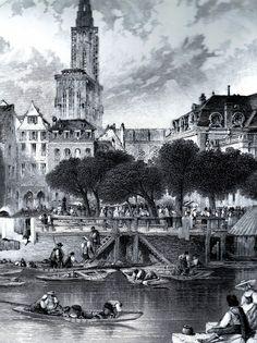 Strasbourg vers 1850 (Place du marché au poissons)