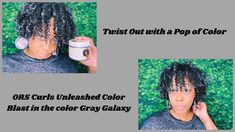 How to Add A Pop of Color to your Defined TwistOut| Temporary Hair Makeu... Color Pop, Gray Color, Temporary Hair Color, Twist Outs, Curls, Wax, Hair Makeup, Party Hairstyles, Colour Pop