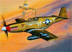 North American P-51B-5 Mustang 'Shangri-La' del Capitán Don Gentile del 4º Grupo de Caza. Masao Satake