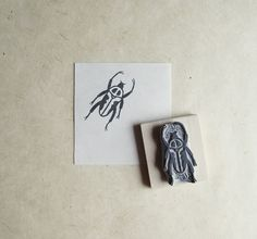 Little Beetle  Hand Carved Stamp by extase on Etsy, $12.00