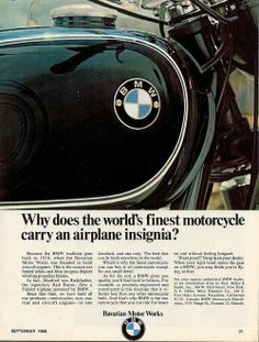 In the the BMW was the most radical motorcycle you could buy. It was BMW*s answer to the relentless threat of large-capacity Japanese motorcycles. Bmw Vintage, Vintage Cafe Racer, Vintage Bikes, Vintage Diy, Motos Bmw, Bmw Motorcycles, Vintage Motorcycles, Bmw Boxer, Cars Motorcycles