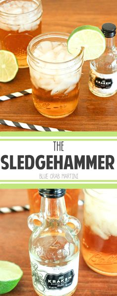 The Sledgehammer- a smooth and easy cocktail full of rum, spice, and everything nice #rum #cocktail #Kraken | Blue Crab Martini