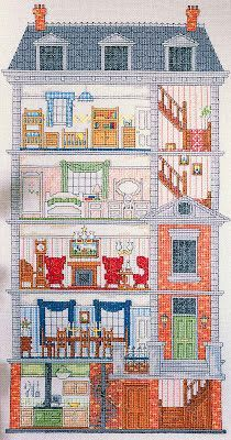Cross Stitch Dollhouses: April 2012