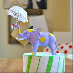Craft: Circus Elephant Collectible (LOVE the idea to paint $1 animals!)