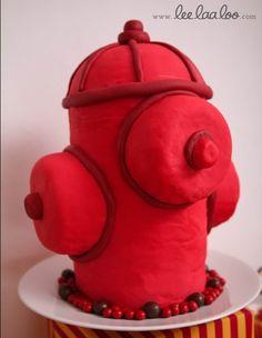 Cool hydrant cake! #cake #firetrucks