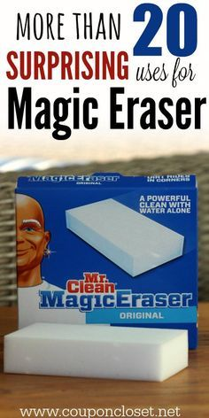 Clean Magic Eraser uses - 25 Ways to use Magic Erasers! 25 Uses for Mr. Clean Magic Erasers - I didn't know magic erasers could be used for so many Uses for Mr. Clean Magic Erasers - I didn't know magic erasers could be used for so many things. Household Cleaning Tips, Deep Cleaning Tips, Toilet Cleaning, House Cleaning Tips, Natural Cleaning Products, Cleaning Solutions, Spring Cleaning, Cleaning Hacks, Diy Hacks