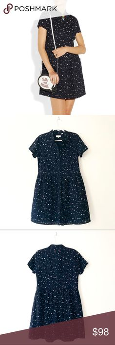 Chinti and Parker Navy Star Print Poplin Dress Very good condition Chinti & Parker Dresses