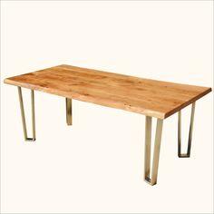 Hankin Large Modern #Rustic Solid Wood Iron Live Edge #DiningTable #interiors #contemporaryfurniture #homedecor #furniture #homeinspiration   http://www.sierralivingconcepts.com/