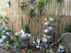"""Recycle Garden    For More Fantastical Home and Garden Whimsy Ideas, visit Dig-in.co    """"Jonesboro, AR and West Tennessee's Premiere Whimsical Nursery, Lawn-care, Landscape and Lighting Dreamers"""""""
