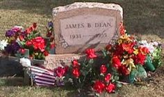 The grave site of James Dean where there is said to be a high level of paranormal activity.