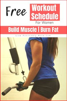Workout Schedule for Women (FREE) Plus Figure out exactly how to Build Muscle And Burn Fat from Live Positively Burn Fat Build Muscle, Gain Muscle, Muscle Mass, Tummy Workout, Belly Fat Workout, Weight Loss Blogs, Weight Loss Goals, Losing Weight, Reduce Weight