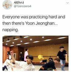 When dose the angel not wanna sleep 😴 Seventeen Memes, Jeonghan Seventeen, Woozi, Mingyu, Vernon Chwe, Won Woo, Meanie, I Cant Even, Seungkwan