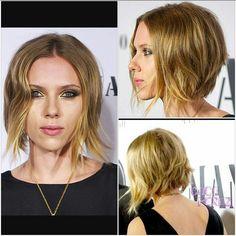 Scarlett Johansson short tousled bob