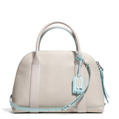 The Bleecker Preston Satchel In Edgepaint Leather from Coach. The contrast stitching is just beautiful!