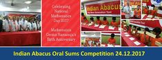 PRESS RELEASE ON 1ST INDIAN ABACUS ORAL SUMS COMPETITION  24.12.2017   Indian Abacus Oral Sums Competition was held on 24.12.2017 in memory of Maths Genius Sreenivasa Ramanujams birth anniversary. The competition started at 9.30 am with prayer. Students from Starters Movers Riders Racers Flyers and Endeavour level students participated in the Competition. Since more than 90 students participated in Starter level two level competitions were held  Preliminary and Final levels. Shortlisted…