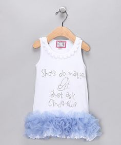 Take a look at this White 'Shoes Matter' Ruffle Dress - Infant, Toddler & Girls  by Born 4 Couture on #zulily today!