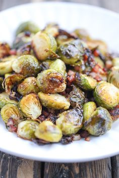 Incredibly crispy brussels sprouts – they are baked in the oven, easy to make, and full of flavor.