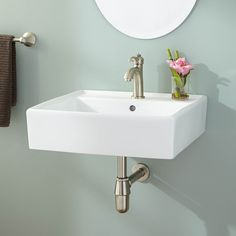 Chelsey Wall-Mount Bathroom Sink from SIGNATURE HADRWARE