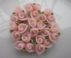8 pcs 15 mm Polymer Clay closed angle flowers FIMO by hellodiy99, $4.59