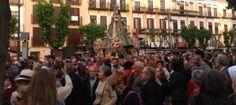 Cientos de murcianos acompañan a la Fuensanta al santuario