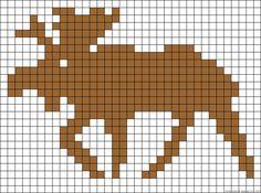 Moose perler bead pattern