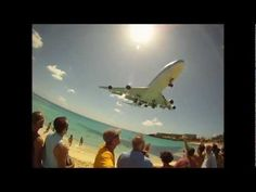 Maho Beach, St. Maarten. Princess Juliana Int'l Airport - 4th World's Most Dangerous Airport