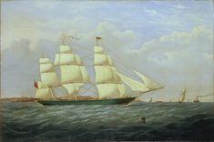 The clipper 'Matilda Wattenbach', built in 1853, St Hélier, Jersey - National Maritime Museum
