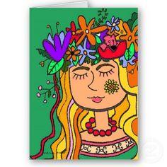 Ivana Kupala Ukrainian Folk Art Cards by perogies
