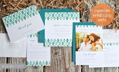 Ikat Wedding Invitation Suite