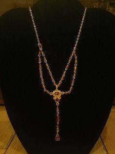 """RJ GRAZIANO"" Romantic  topaz  VICTORIAN Y DROP NECKLACE GORGEOUS!  | Jewelry & Watches, Fashion Jewelry, Necklaces & Pendants | eBay!"