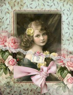 Victorian palette to keep in mind* Vintage Abbildungen, Decoupage Vintage, Vintage Ephemera, Vintage Cards, Vintage Paper, Vintage Postcards, Vintage Prints, Vintage Images, Vintage Ladies