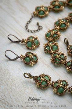 PATTERN of the vintage jade jewellery set TUTORIAL | Etsy
