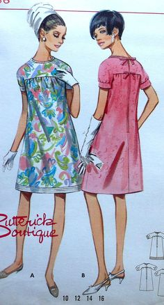 Vintage Dress Sewing Pattern Butterick 4488 by latenightcoffee