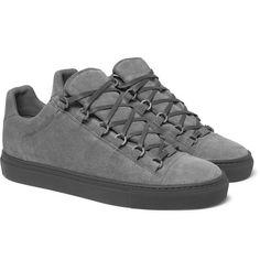 Low-Ridin' In Grey: Balenciaga Arena Suede Sneakers