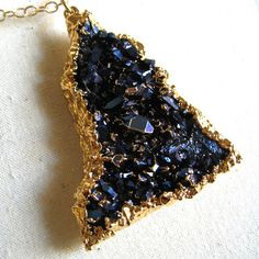 Cobalt Druzy Necklace now featured on Fab.
