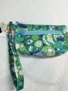 Handmade Green Hippie Zipper Pouch, Wallet, Clutch by JazzyJoDesigns on Etsy