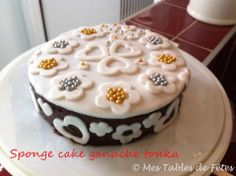 Sponge cake pâte à sucre ganache tonka